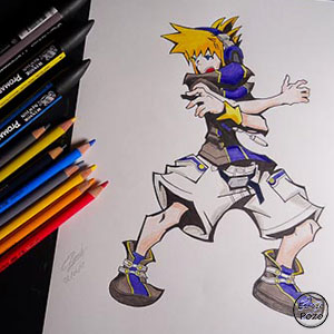 DIBUJO NEKU | THE WORLD ENDS WITH YOU